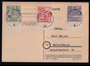 SBZ., Provin-Sachsen FDC. , Mi.-Nr.87-89 A