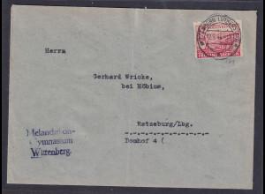 SBZ. Provin-Sachsen Fernbrief mit EF. Mi.-Nr. 86 wa. A, sign. StröhBPP:
