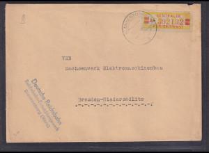 DDR., Diens-Brief mit EF. Mi.-Nr. 19 IA