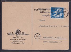 DDR., Fernkarte mit EF. Mi.-Nr. 273