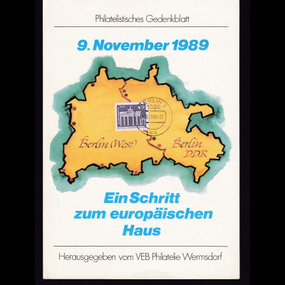 DDR - Gedenkblatt, Eiin Schritt zum europäischen Haus 1989