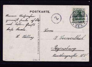 DR, Zepp.-Postkarte gelaufen von Frankfurt ILA, nach Regensburg.
