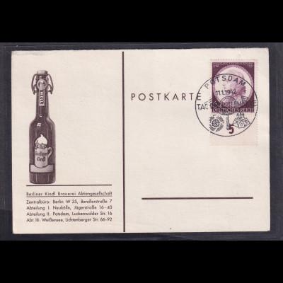 DR, Reklame-Karte Berliner Kindl.