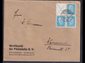 DR. Fern-Brief mit Mi.-Nr. W 26