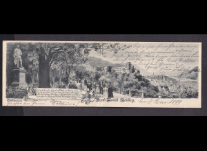 DR. Panoramakarte, Heidelberg 1899