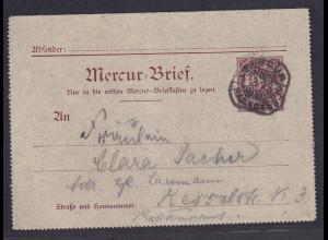 Privatpost, Mercur-Brief Hannover 1899, 3 Pfg. Braun, gelaufen.