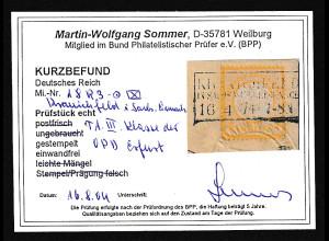 DR. Fern-Karte mit EF. Mi.-Nr. 18 , KB. SommerBPP