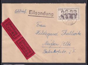 DDR.,Eilbote-Fernbrief mit EF. Mi.-Nr. 922