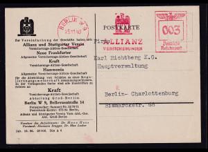 DR. Reklame-Karte, Allianz Versicherung Berlin