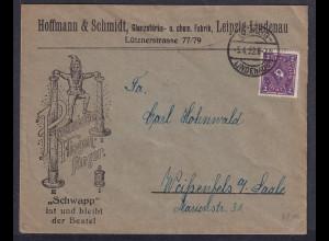 DR. Reklame-Brief, Pyramiden Fliegen-Fänger, Hoffmann&Schmidt, Leipzig-Lindenau