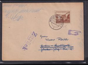 SBZ-Thuringen Fernbrief mit EF .Mi.-Nr. 115 c y,sign. StröhBPP