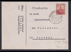 SBZ-West Sachsen Fernkarte mit EF.,Mi.-Nr. 161