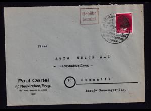 SBZ.,Säch.Schwärzung, Fernbrief mit EF. AP.827 von Neukirchen