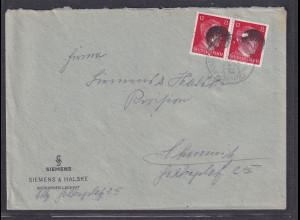 SBZ., Säch. Schwärzung, Fernbrief mit Me.F. AP. 827 Von Erdmannsdorf