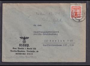 DR. Dienst-Brief innerhalb Berlin von 13.4.45 mit EF. Mi.-Nr. D 160