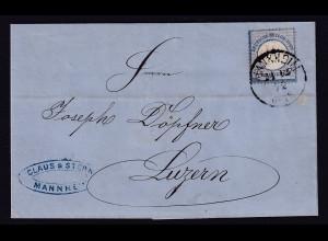 DR., Ausland-Brief mit EF. Mi.-Nr. 10