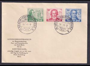 Berlin, FDC., Mi.-Nr. 61-62, 63 I,, FA, Schlegel.