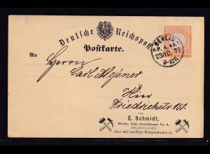 DR., Postkarte mit EF. Mi-Nr. 18 Berlin, Postkarte mit Zudruck.