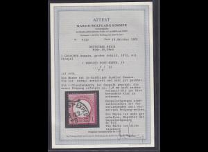 DR, Mi.-Nr.19 DPrä, 1,8 mm !! Versetzt, gestempelt,FA. SommerBPP