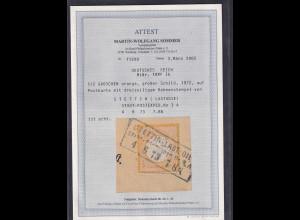 DR, Fernkarte mit EF. Mi.-Nr. 18 PF Ib, FA. SommerBPP