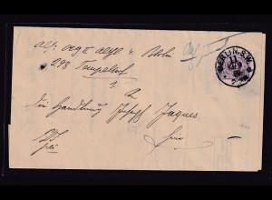 DR, Mi.-Nr.40, auf erm. Ortsbrief innerhalb Berlins 1889, sign. Jäschke-L.
