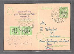 SBZ-Allgemeine Ausgaben, Mi.-Nr. P 30, 185 nach Teheran, Iran gelaufen.