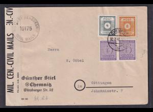 SBZ, Fernbrief mit MiF. Ost.- und West-Sachsen Mi.-Nr. 129x u.a., zensiert