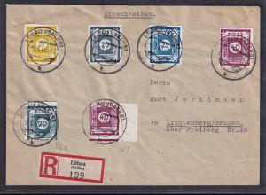 SBZ-Ost-Sachsen, R-Fernbrief mit Mi.-Nr. 48 Ac,48 D Ia,40 D I, u.a.,sign. Ströh