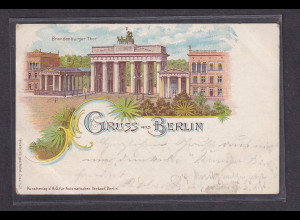 DR., Brandenburger Tor, Privatganzsache gelaufen Berlin1898