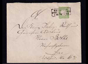DR, Brustschild EF Mi.-Nr. 17 in Hannover als Ortsbrief verwendet, Mi. 300€.