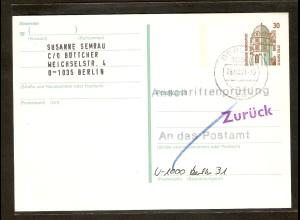 Bund., P147 als Anschriftenprüfung