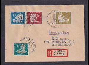 DDR. Mi.-Nr. 258 PF III auf Brief, Kurzbefund Mayer.