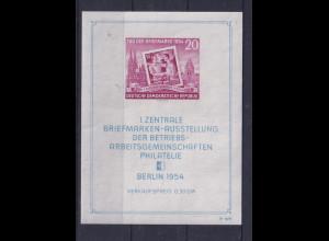 DDR, Mi.-Nr. Bl.10 XII PF IV postfrisch, Kurzbefund Mayer