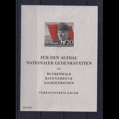 DDR, Mi.-Nr. BI 14 XI PF II postfrisch, Befund Mayer