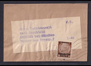 GG., Zeitungsdrucksache/Streifband mit EF. Mi.-Nr. 1