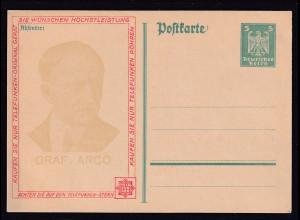 Dt. Reich P 162 Zudruck Telefunken Graf Arco