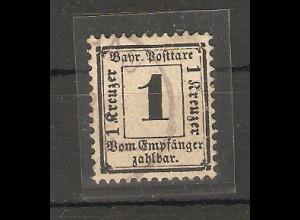 Bayern, Mi.-Nr. P 2 X, gestempelt.