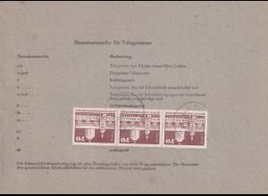 DDR., Telegramm mit Me.F. Mi.-Nr. 1881