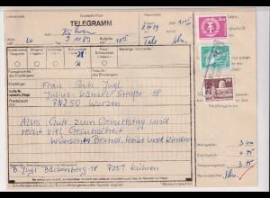 DDR., Telegramm mit Mi.-Nr. 2633 u.a.