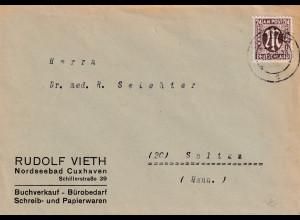 Bizone, AM Post Fernbrief mit EF. Mi.-Nr. 27 A, sign. HettlerBPP