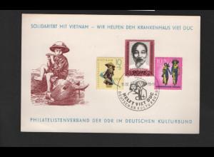 DDR - Gedenkblatt, Solidarität mit Vietnam, C11-1970