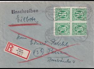 Bizone, AM Post R-Eilbote-Fernbrief mit MeF Mi.-Nr. 31