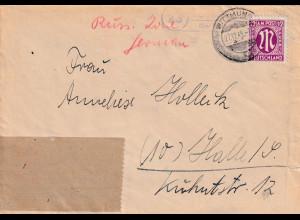 Bizone, AM Post Fernbrief mit EF. Mi.-Nr. 23 C