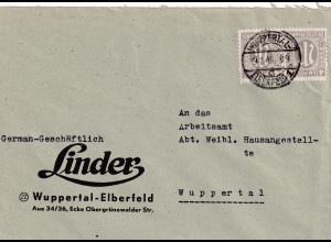 Bizone, AM Post, Ortsbrief mit MeF. Mi.-Nr. 18 D, sign. HettlerBPP
