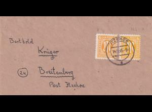 Bizone, AM Post Fernbrief mit MiF. Mi.-Nr. 20 D + 4 x