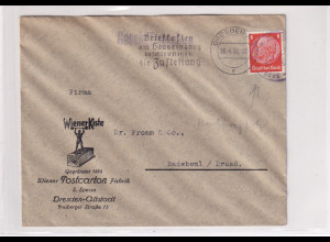DR. Reklamebrief, Wiener Postcarton Fabrik, Dresden