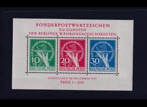 Berlin 1949, Wohlt.-Ausgabe, Mi.Block -Nr. 1, postfrisch, FA Schlegel.