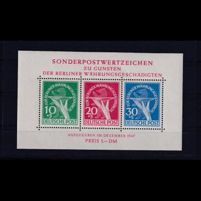 Berlin 1949, Wohlt.-Ausgabe, Mi.Block -Nr. 1, postfrisch, tiefst sign. Schlegel.
