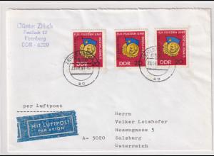 DDR. Ausland-Luftpostbrief mit MeF, Mi.-Nr. 1167