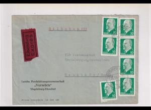 DDR. Eilbote-Fernbrief mit MeF, Mi.-Nr. 846
